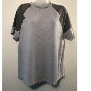 Lululemon Mens T-Shirt  Stretchy Pullover  Grey L